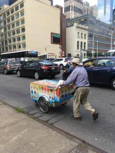 New York street popsicle cart