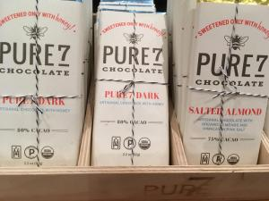 Pure7 chocolate sweetened with honey