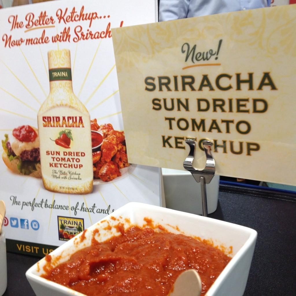 Traina sriracha sun dried tomato ketchup