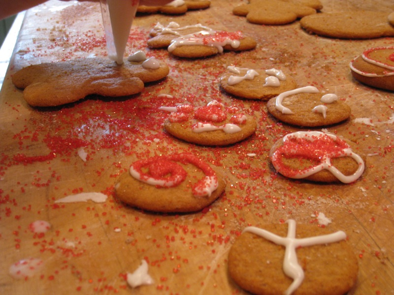 What happens when I make gingerbread cookies.