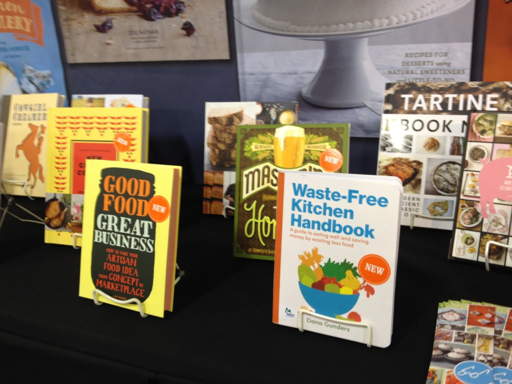 In good company with some great cookbook and other food books at the Chronicle Books Fancy Food Show booth