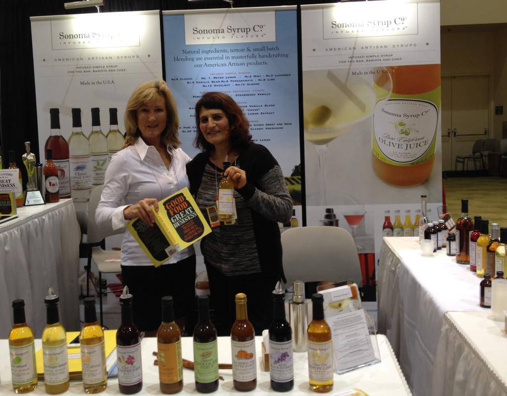 Karin Campion of Sonoma Syrup and Susie Wyshak