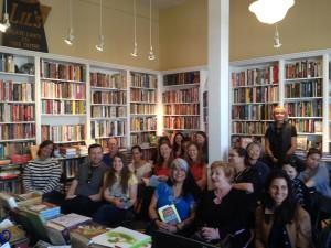 Aspiring food entrepreneurs at Good Food Great Business reading