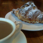tartine bakery croissant and coffee