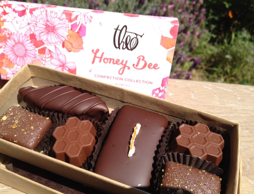 Theo Chocolate Honey Bee confections box