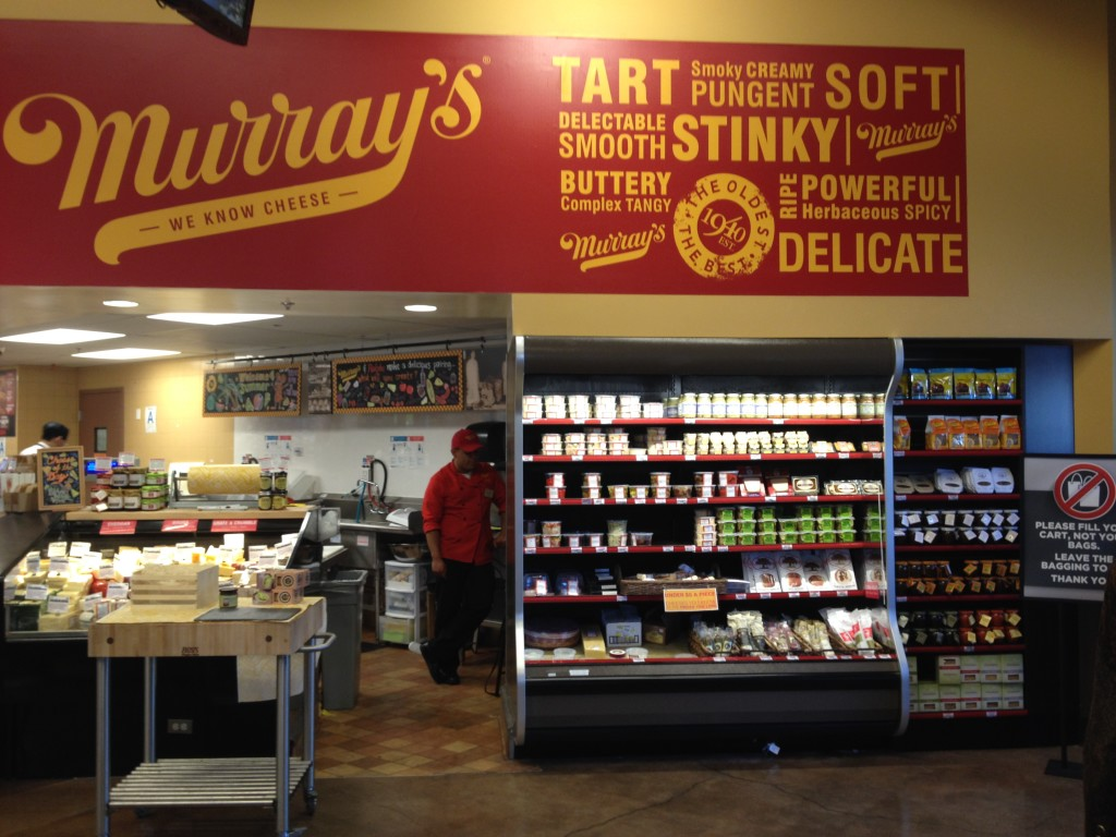A Murray's Cheese within a Ralph's supermarket in Los Angeles brings great specialty and artisan food products to shoppers who might not otherwise have discovered them. The section is right near the store entrance.