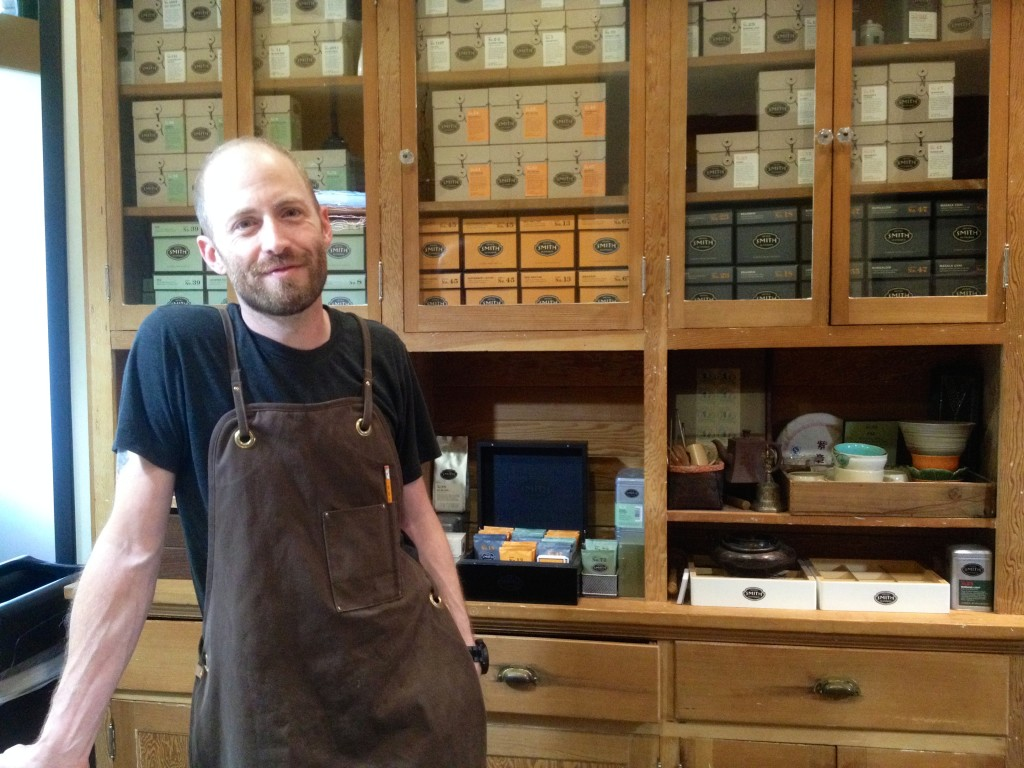 Artisan tea crafter at Smith Tea in Portland