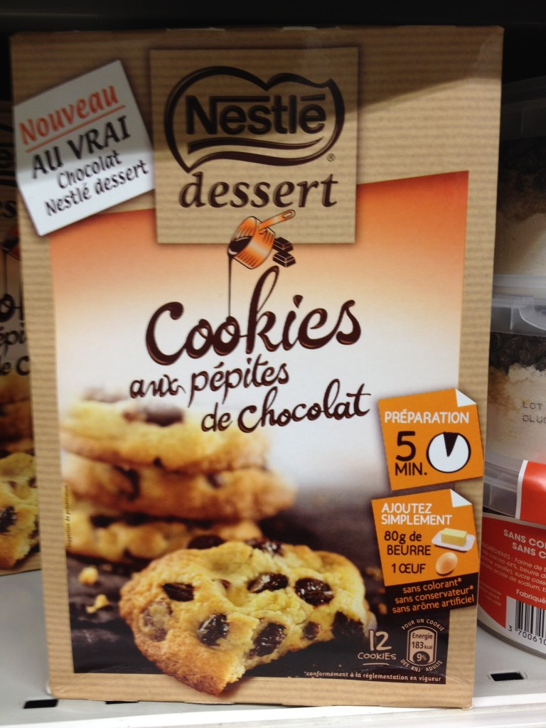 packaged french chocolate chip cookies