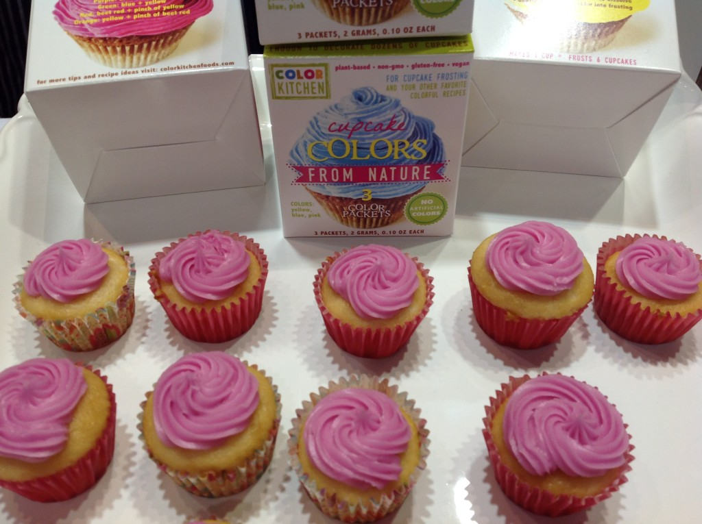 bright pink cupcakes with natural food coloring