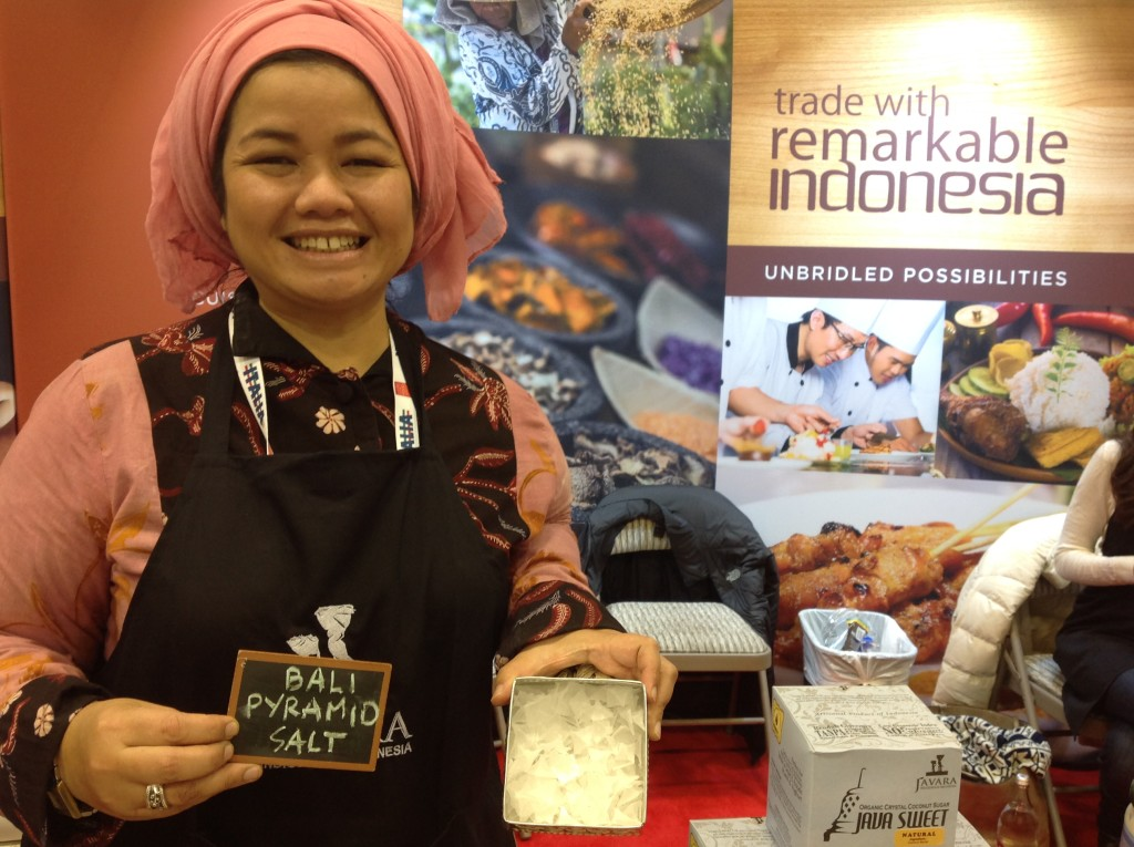 salt farmers from Indonesia at the fancy food show
