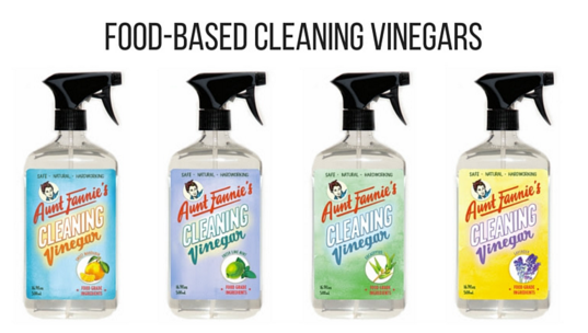Aunt Fannie's food based cleaning vinegars