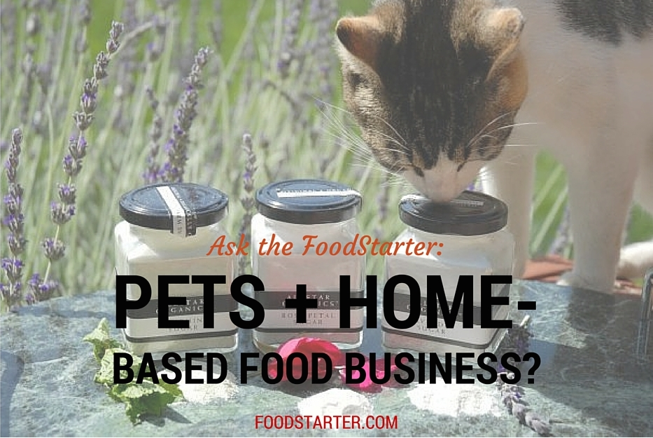 Is it OK to have pets in a home-based food business?