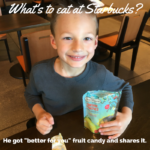 starbucks food - candy