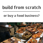 decide whether to buy an existing food business or start one