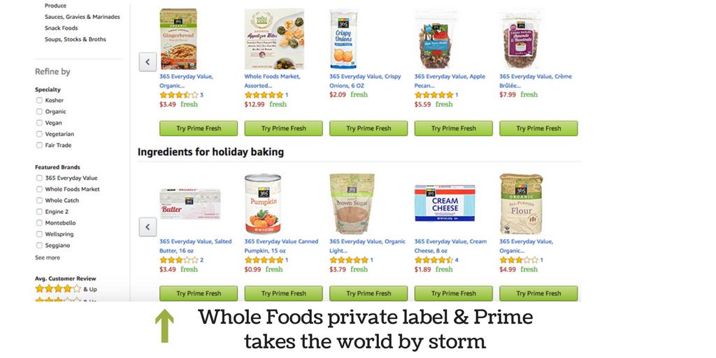 foods featured on Amazon
