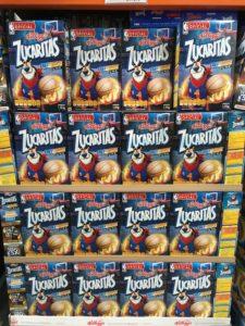 Tony the Tiger on Kellogg's cereal at costco Mexico