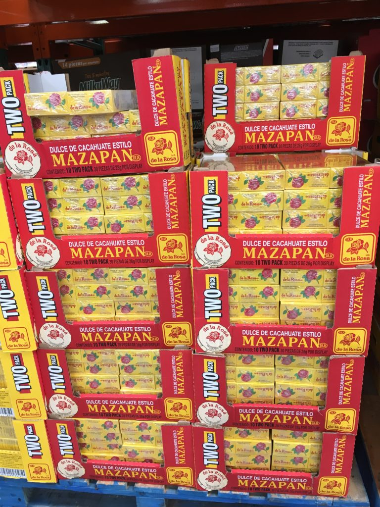 Peanut marzipan - dulce de cacahuate - at Costco Mexico