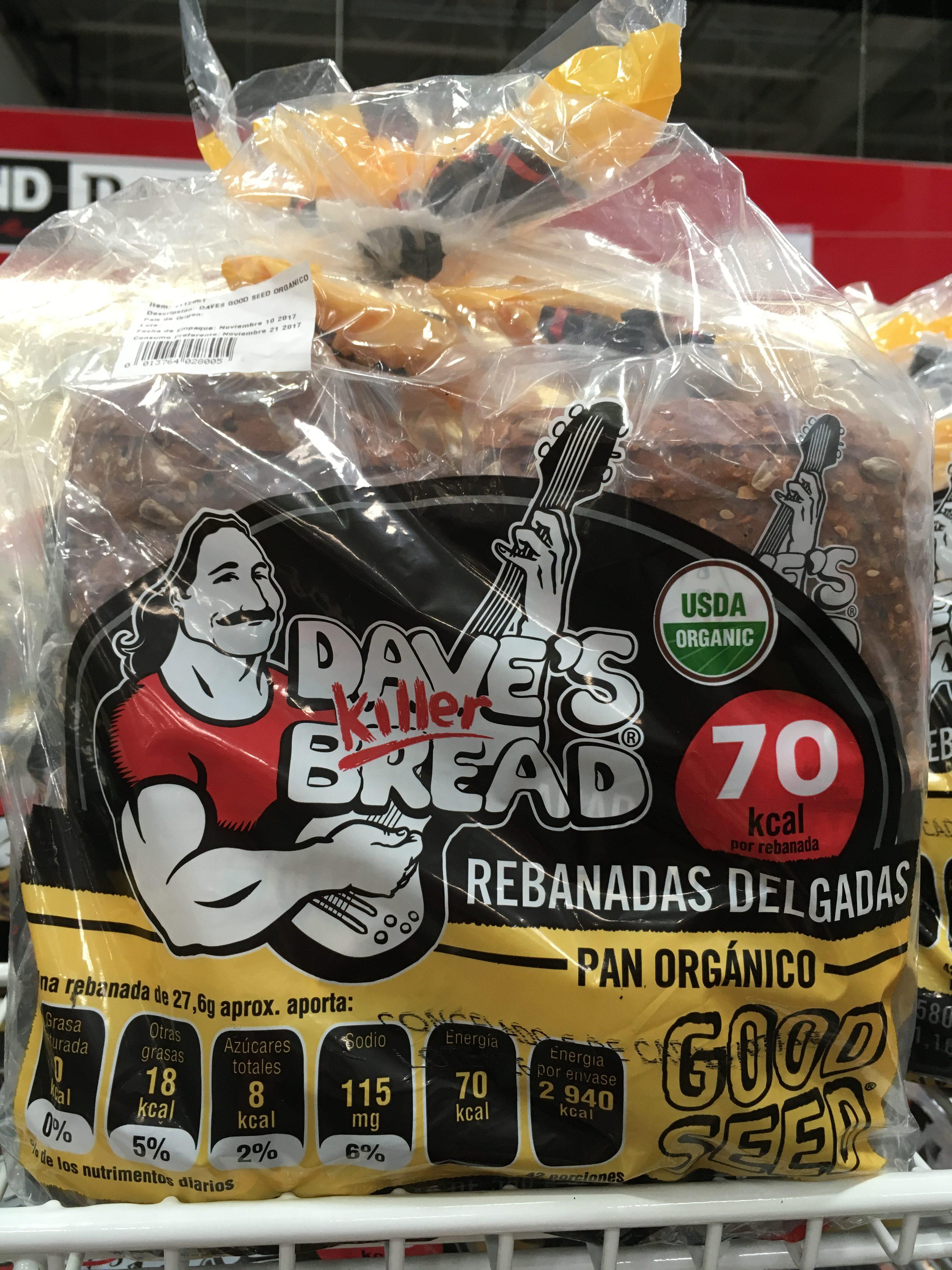 Dave's Killer Bread in Costco Mexico